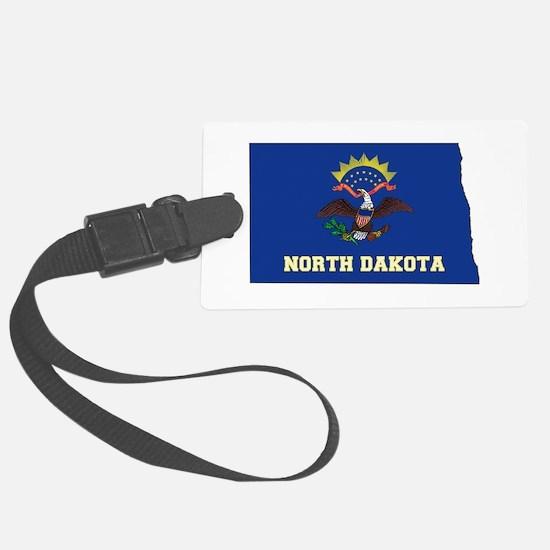 North Dakota Flag Luggage Tag