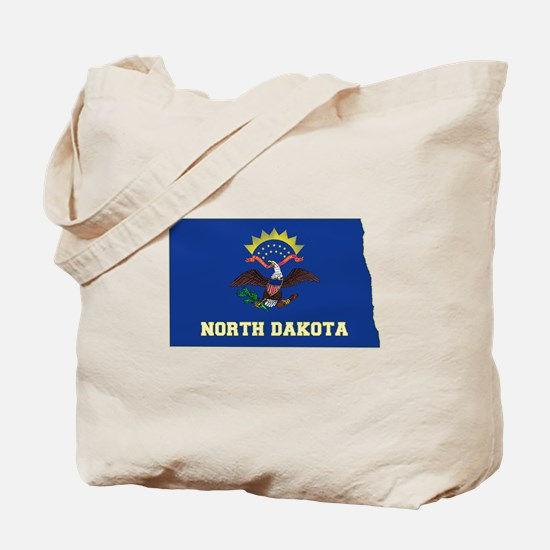 North Dakota Flag Tote Bag