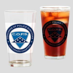 C.O.P.S. Logo Drinking Glass
