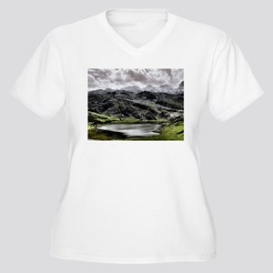 Lake Ercina in Asturias, Spain Plus Size T-Shirt
