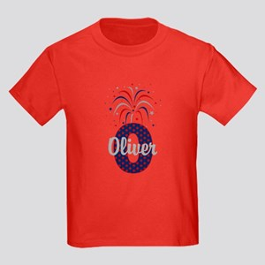 4th of July Fireworks letter O T-Shirt