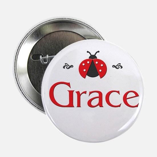 Red LadyBug - Grace Button