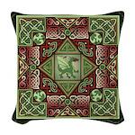 Celtic Dragon Labyrinth Woven Throw Pillow