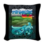 Celtic Castle Tor Woven Throw Pillow