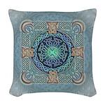 Celtic Eye of he World Woven Throw Pillow