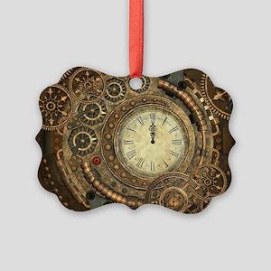 Steampunk, clockwork with gears Ornament