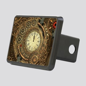Steampunk, clockwork with gears Hitch Cover