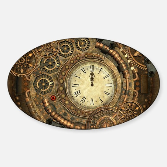 Steampunk, clockwork with gears Decal
