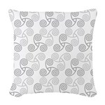 Celtic Triple Spiral Woven Throw Pillow