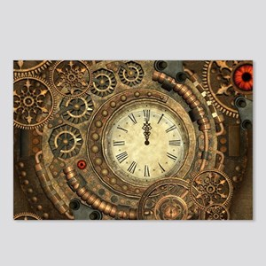 Steampunk, clockwork with gears Postcards (Package