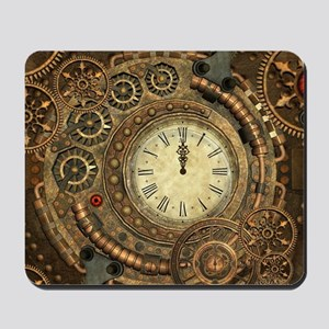 Steampunk, clockwork with gears Mousepad