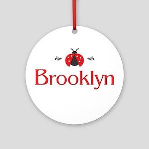 Red LadyBug - Brooklyn Ornament (Round)