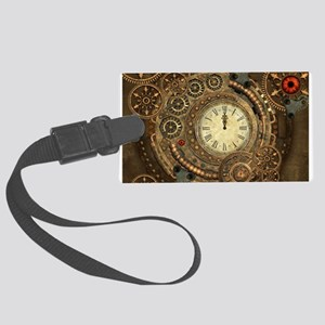 Steampunk, clockwork with gears Luggage Tag