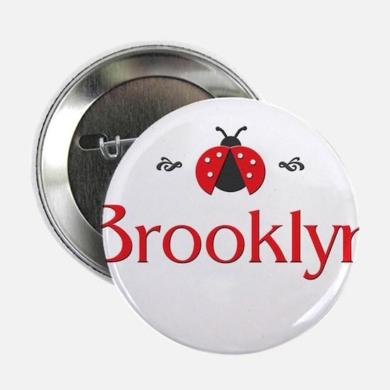 Red LadyBug - Brooklyn Button
