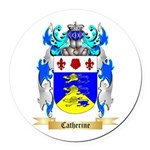 Catherine Round Car Magnet