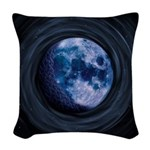 Celtic Blue Moon Woven Throw Pillow