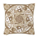 Celtic Stepping Stone Woven Throw Pillow
