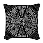Celtic Dragons Woven Throw Pillow