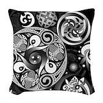 Celtic Clockwork Woven Throw Pillow