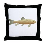 White Sucker fish 2 Throw Pillow