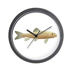 White Sucker fish 2 Wall Clock