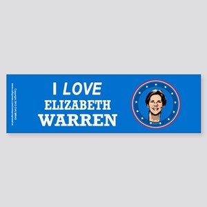 I Love Elizabeth Warren Sticker (Bumper)