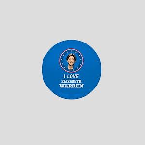 I Love Elizabeth Warren Mini Button