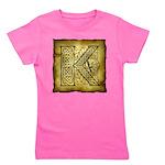 Celtic Letter K Girl's Tee