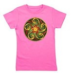 Celtic Pentacle Spiral Girl's Tee