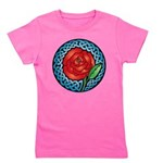 Celtic Rose Stained Glass Girl's Tee