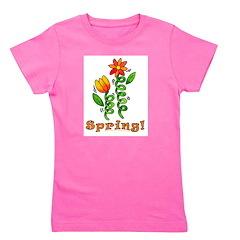 Spring Flowers Girl's Tee