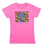Color Psychic Vibration Quote Girl's Tee