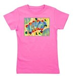 Poker Abstract Watercolor Girl's Tee