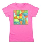Color Square Abstract One Girl's Tee