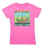 Turtle Tie Dye Watercolor Girl's Tee