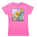 Sunny Sunflowers Watercolor Girl's Tee