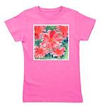 Watercolor Flowers Girl's Tee
