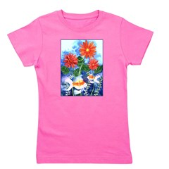 Fish and Flowers Watercolor Girl's Tee