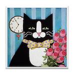Black Tuxedo CAT Date Night ART Tile
