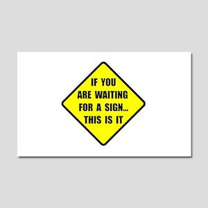 A Sign Car Magnet 20 x 12