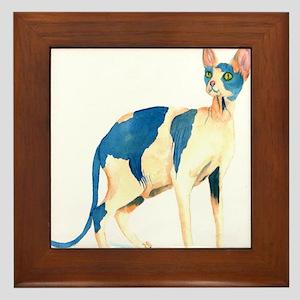 Sphynx Cat Framed Tile