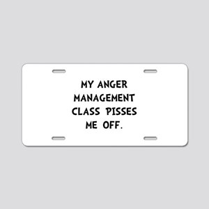 Anger Management Aluminum License Plate