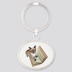 Kitten Reading Book Keychains
