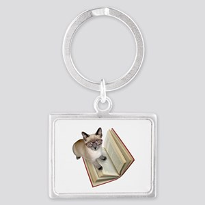 Kitten Reading Book Keychains