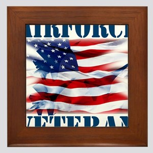 Airforce Veteran copy Framed Tile