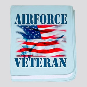Airforce Veteran copy baby blanket