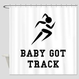 Baby Got Track Shower Curtain