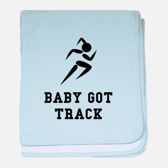 Baby Got Track baby blanket