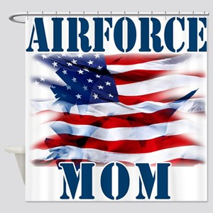 Airforce Mom Shower Curtain