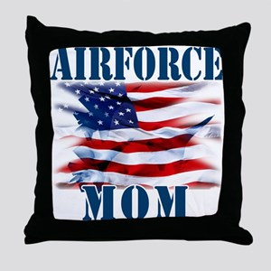 Airforce Mom Throw Pillow